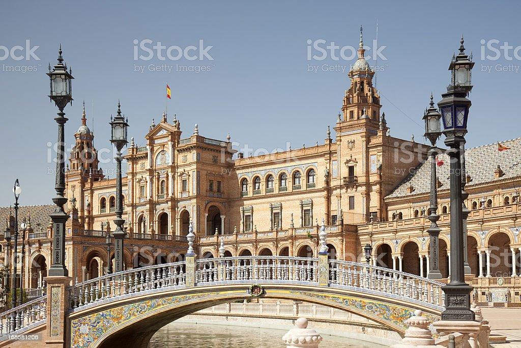 Plaza de España, Seville, Spain royalty-free stock photo