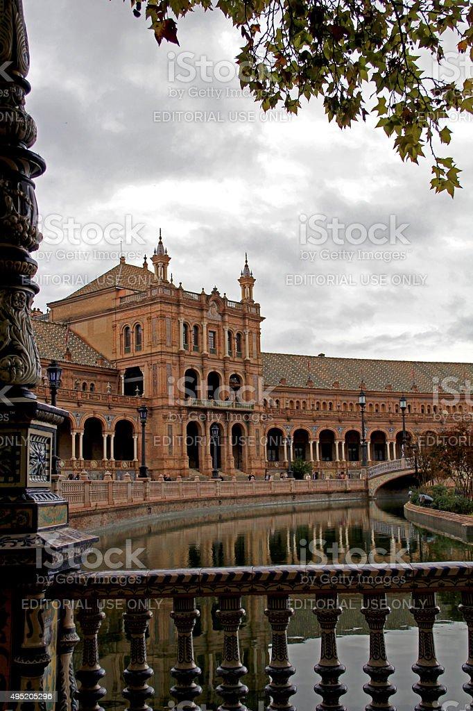 Plaza de España, Seville, Spain stock photo