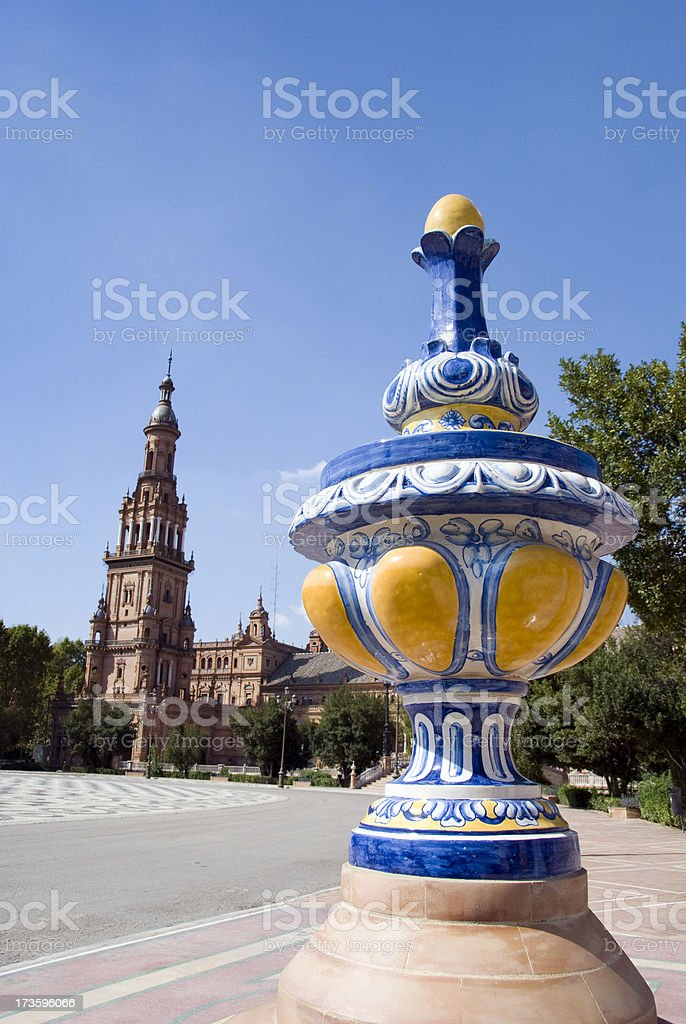 Plaza de Espagna decoration royalty-free stock photo