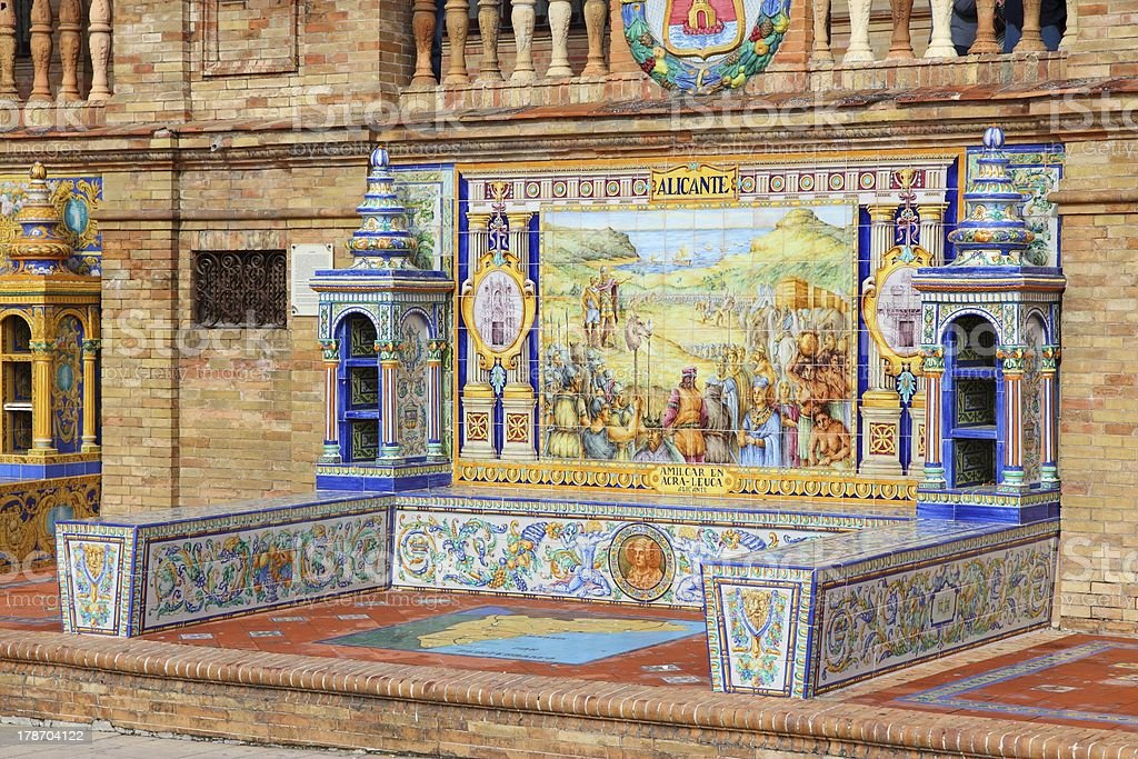 Plaza de Espana - Alicante theme royalty-free stock photo