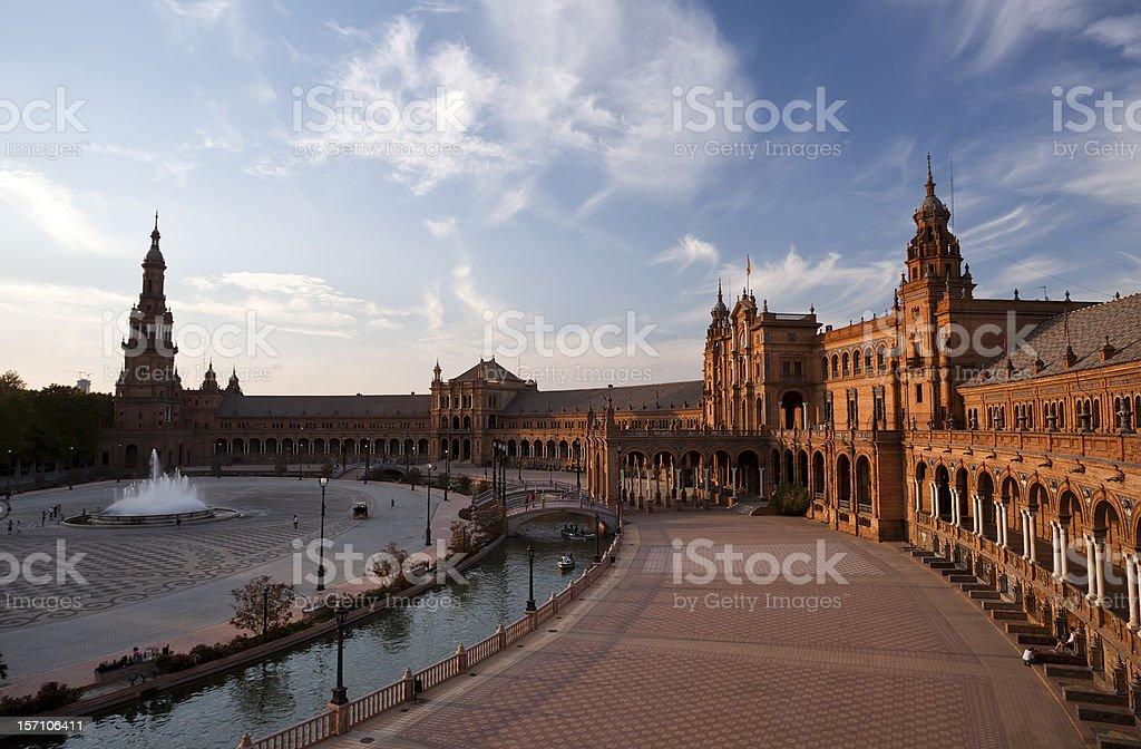 Plaza de Espana at sunset royalty-free stock photo