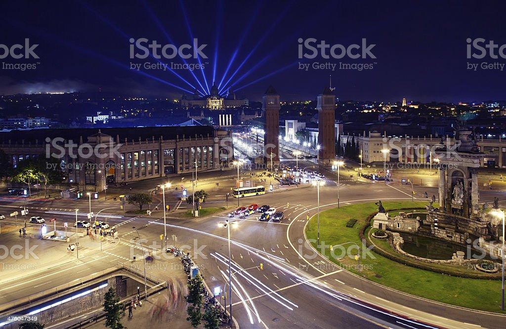 Plaza de Espana, Barcelona royalty-free stock photo