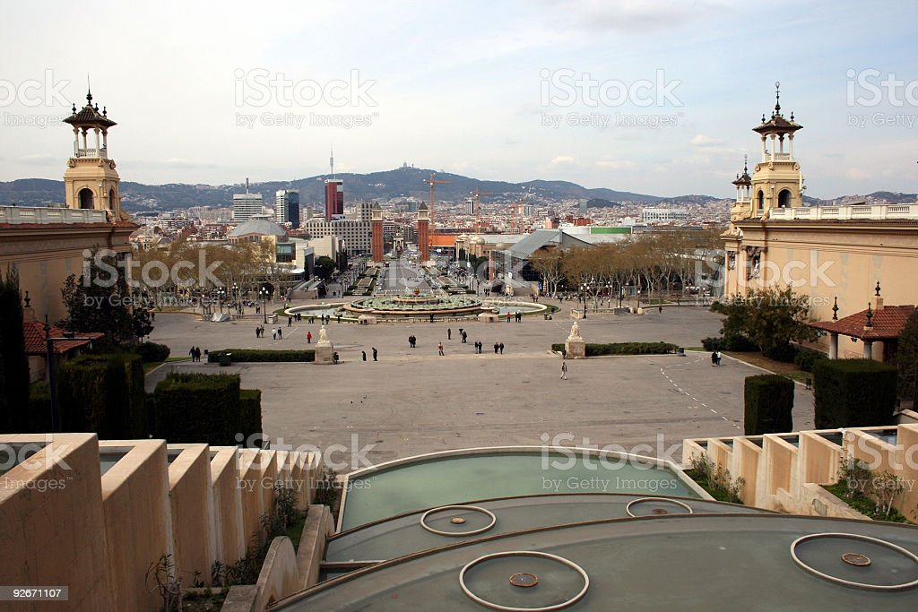 Plaza de Espana, Barcelona royalty-free stock photo