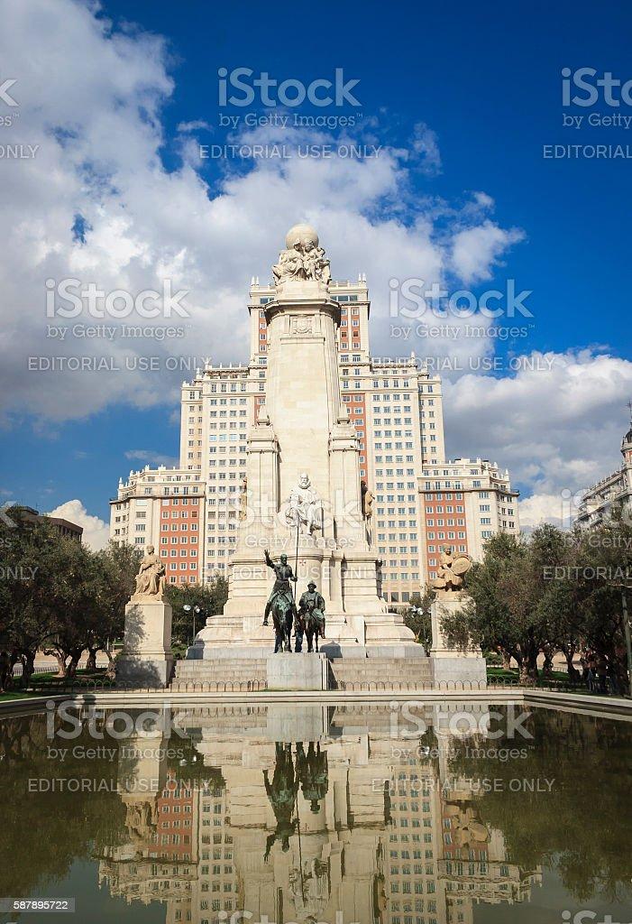 Plaza de Espana in Madrid stock photo