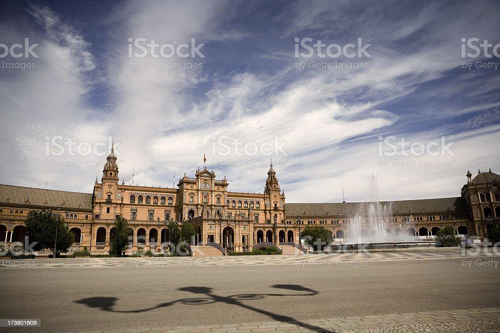 Plaza de Espana in Sevilla royalty-free stock photo