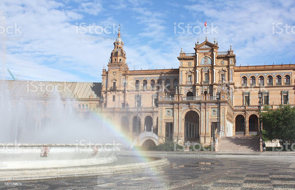 Plaza de Espana in Seville, Andalucia, Spain royalty-free stock photo