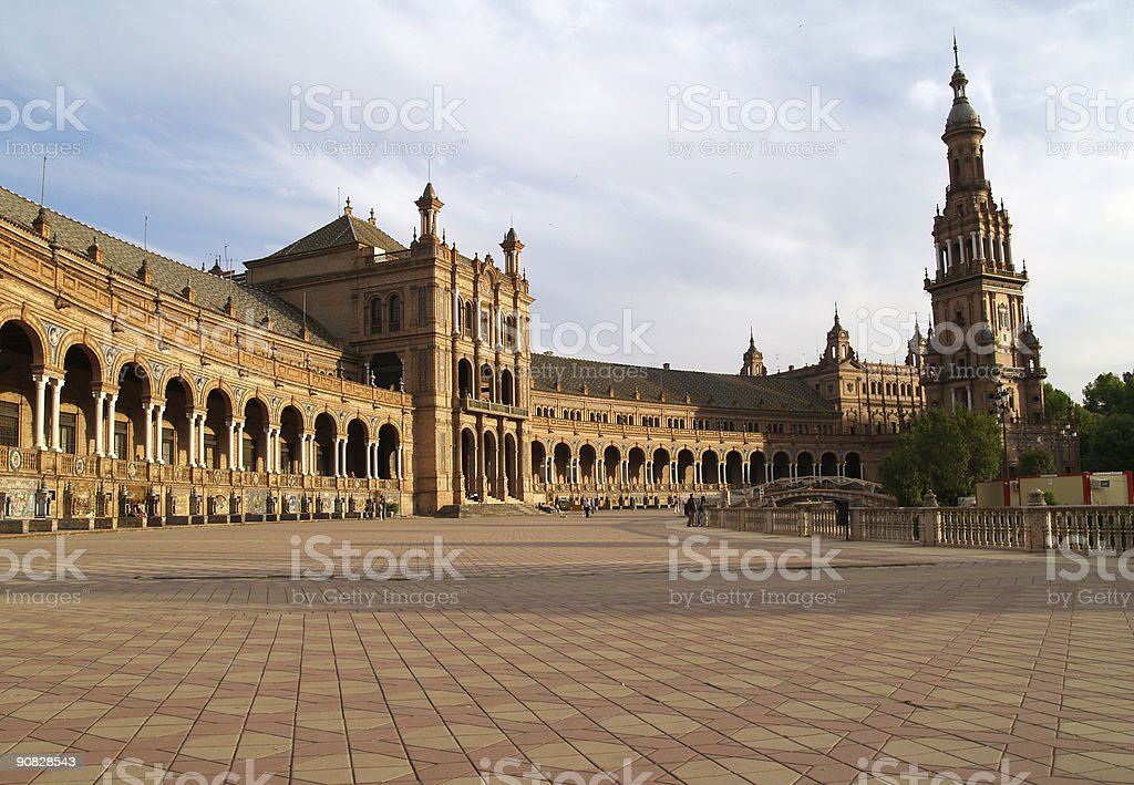 Plaza de Espana in Seville, Andalucia, Spain royalty-free stock photo