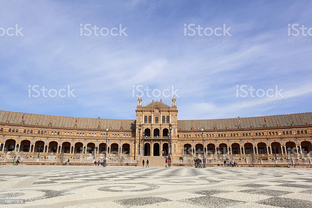 Plaza de Espana in Seville royalty-free stock photo
