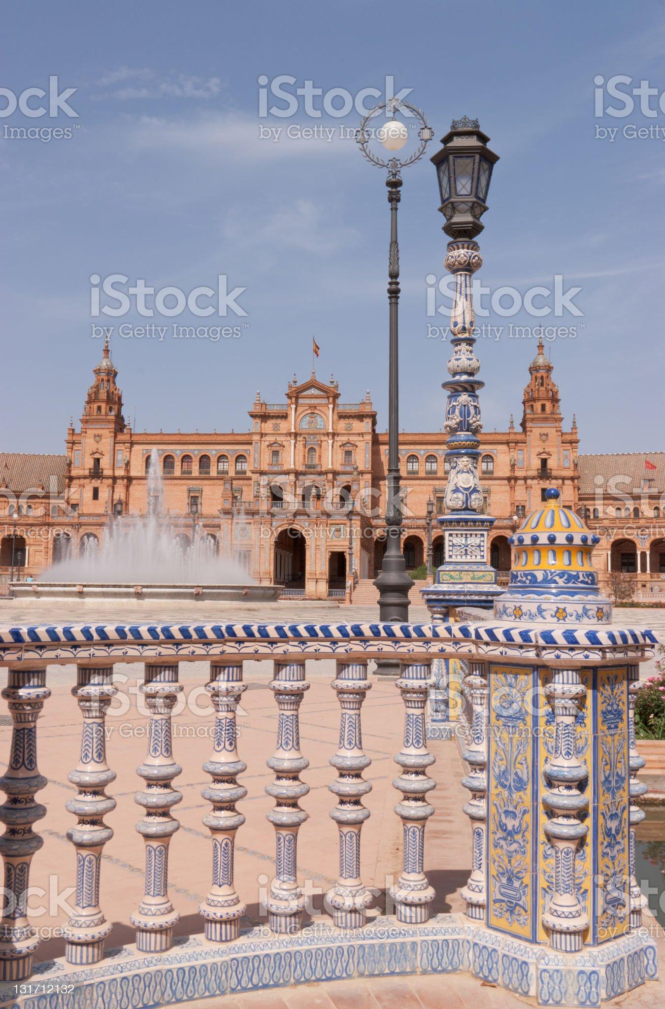 Plaza de Espana in Seville royalty-free stock photo