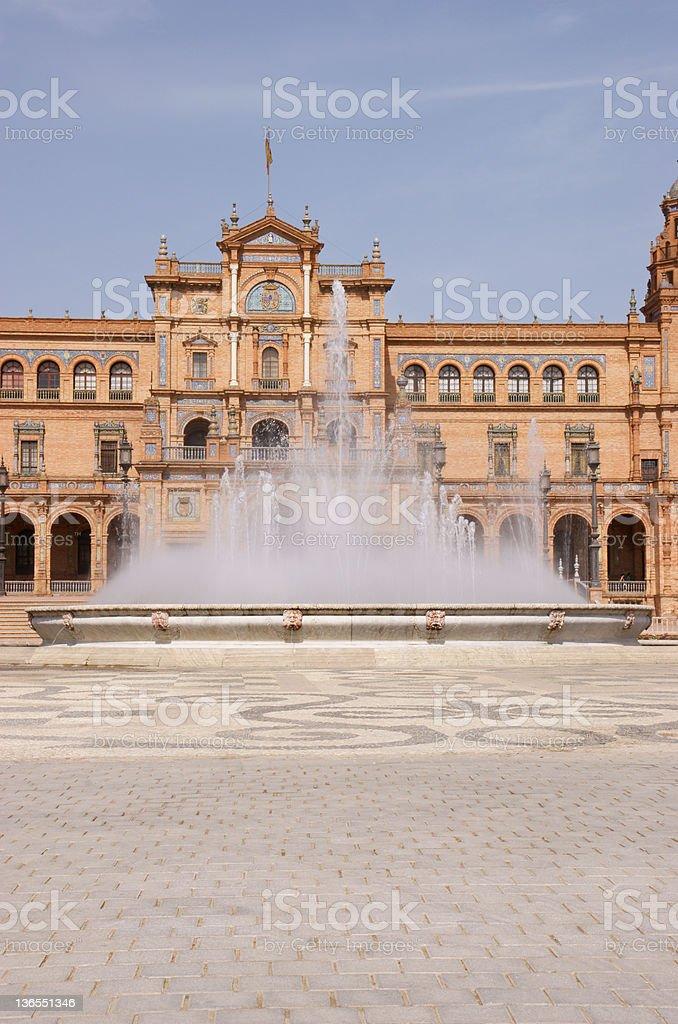 Plaza de Espana (Spain square) in Seville royalty-free stock photo