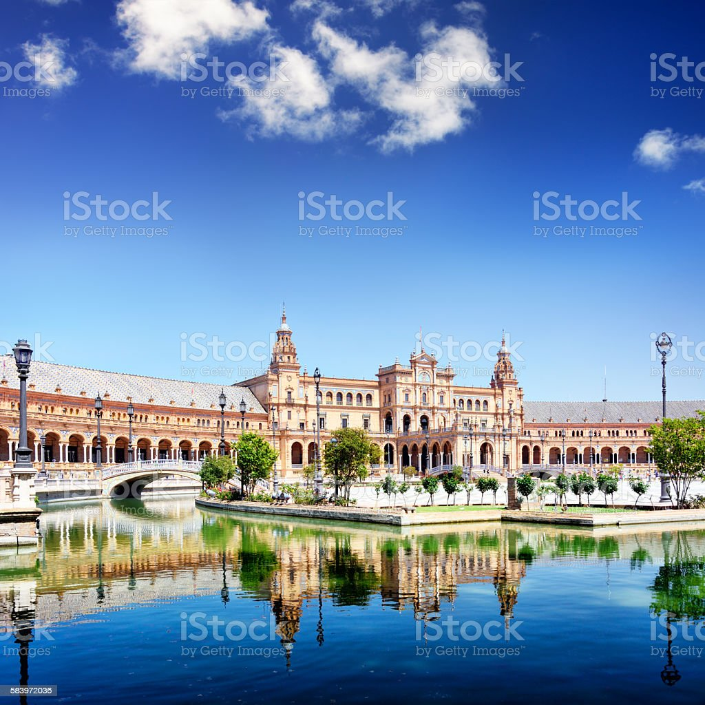 Plaza de Espana in Seville stock photo