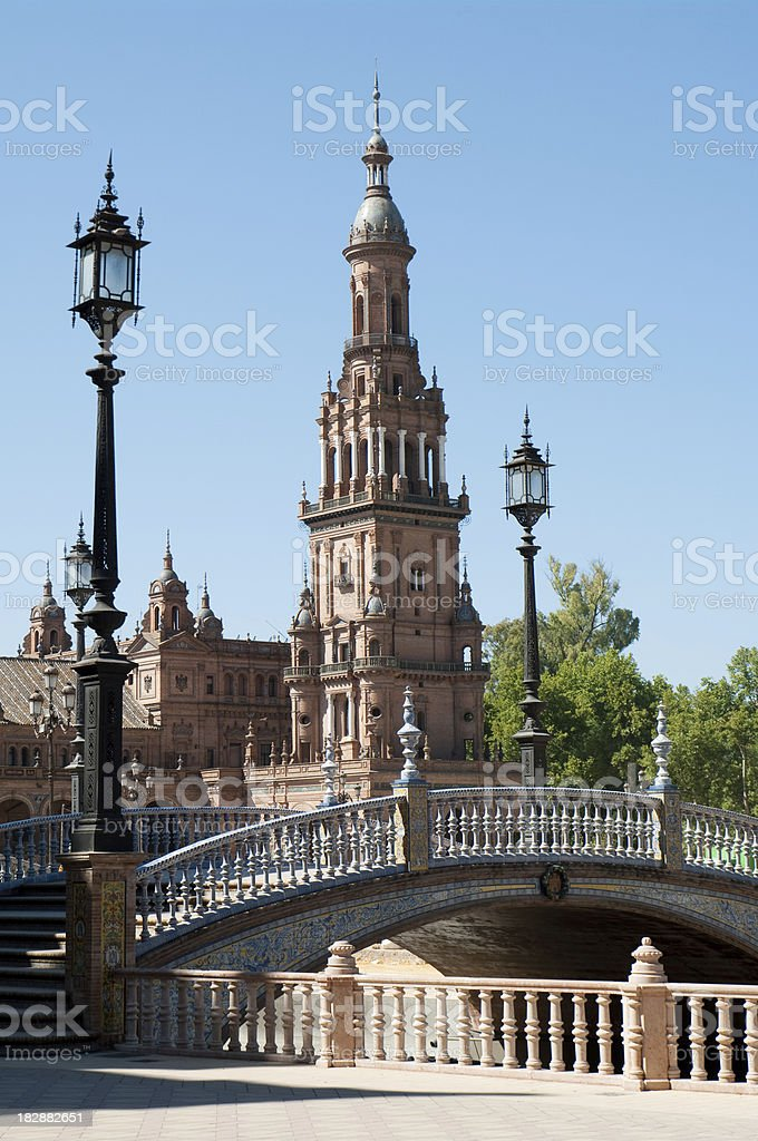 Plaza de Espana in Seville Sevilla Spain 1929 Expo royalty-free stock photo