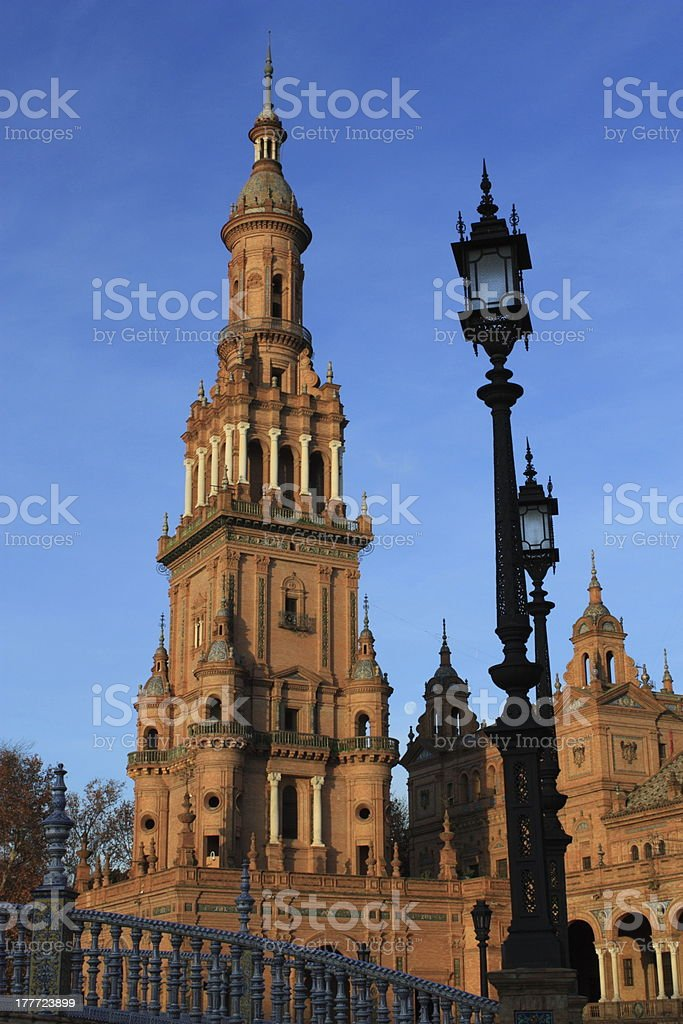 Plaza de Espana in Seville, Spain. royalty-free stock photo