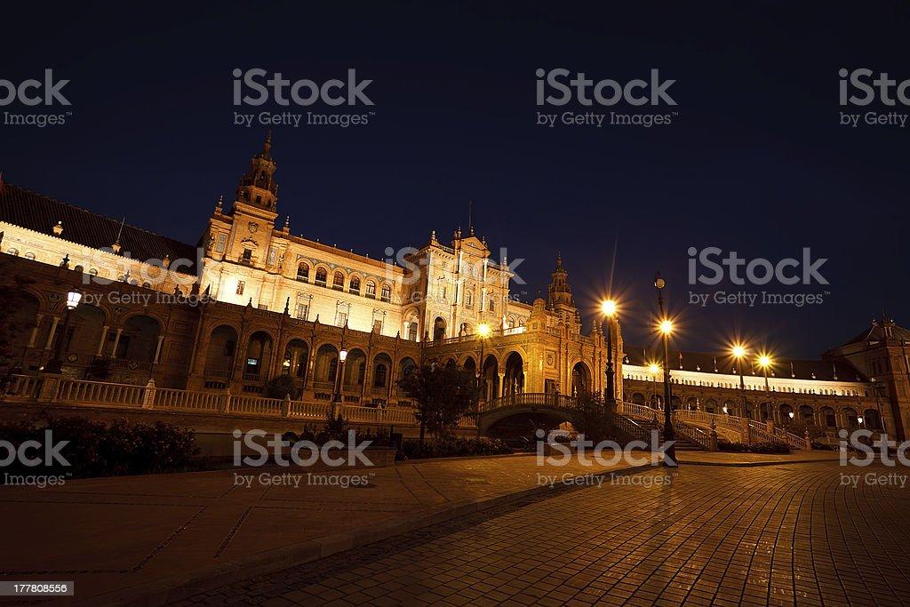 Plaza de Espana in Seville, Spain royalty-free stock photo