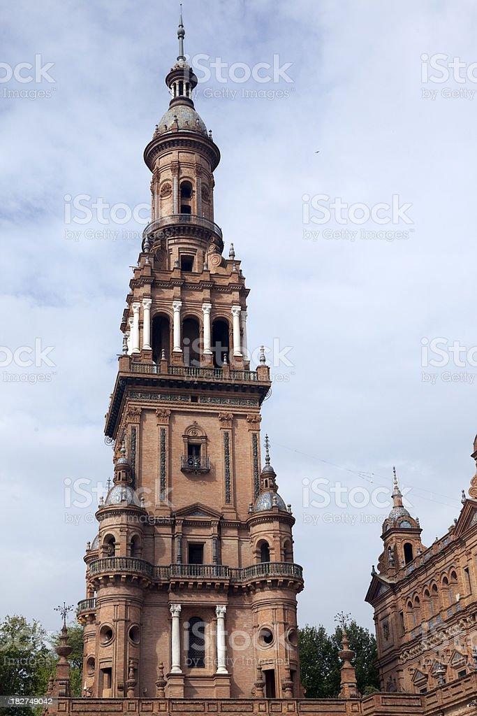 Plaza de Espana in Seville Spain royalty-free stock photo