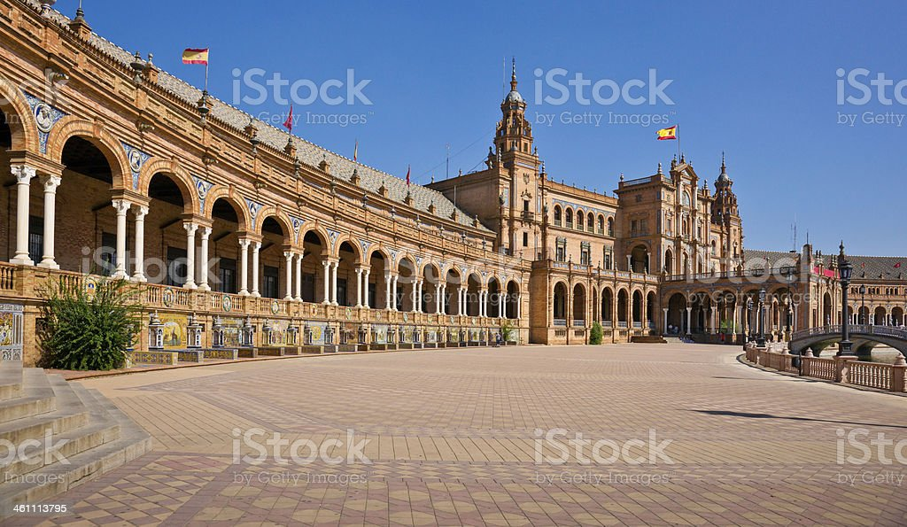 Plaza de Espana in Seville, Spain royalty-free stock photo