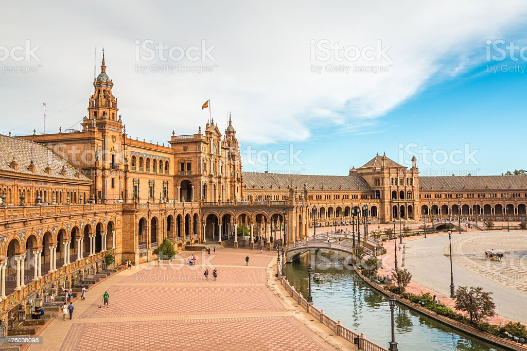 Plaza de Espana in Seville Spain stock photo