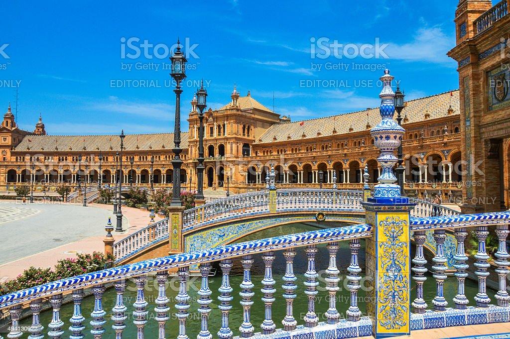 Plaza De Espana in Seville, Spain stock photo