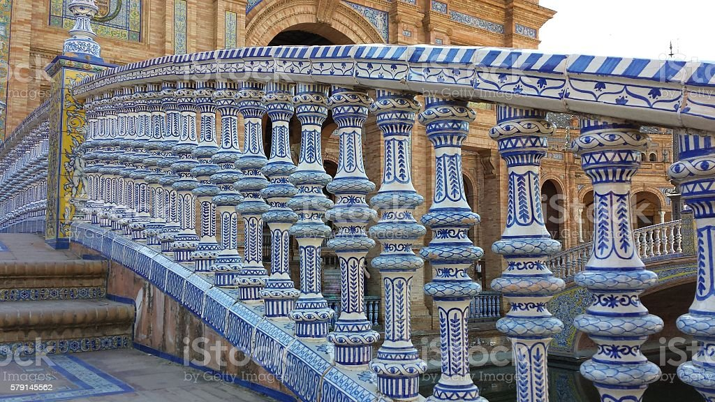 Plaza de Espana in Seville, Spain. stock photo