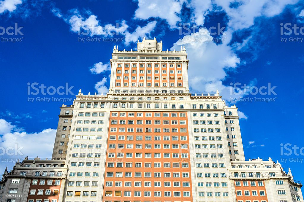 Plaza de Espana - Madrid, Spain stock photo