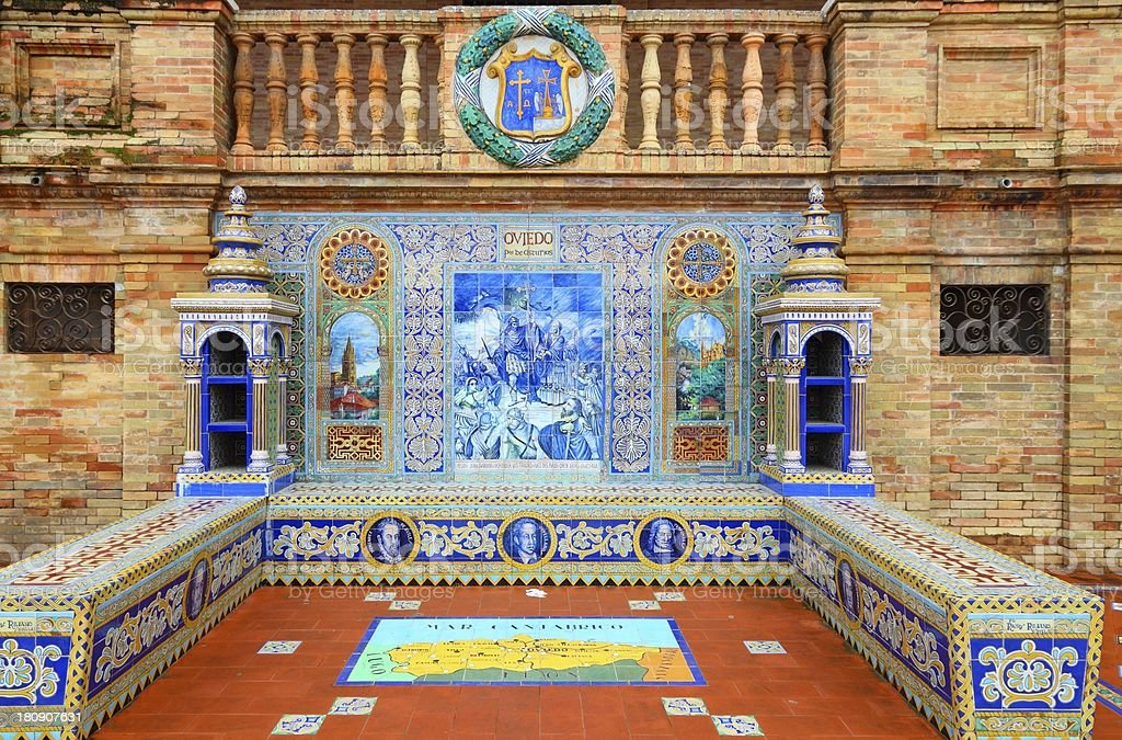 Plaza de Espana - Oviedo theme royalty-free stock photo