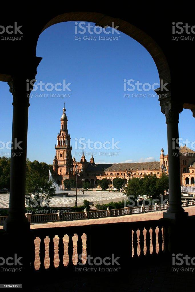 Plaza de Espana, Sevilla Nobody royalty-free stock photo