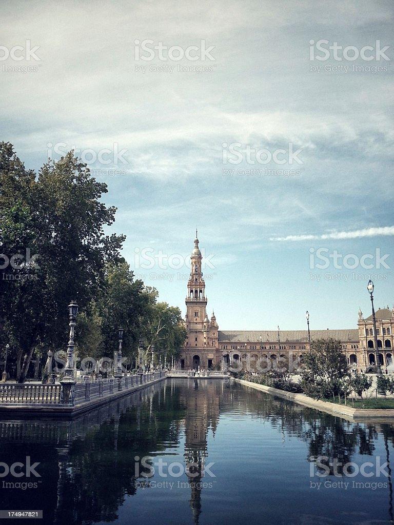 Plaza de Espana, Sevilla royalty-free stock photo