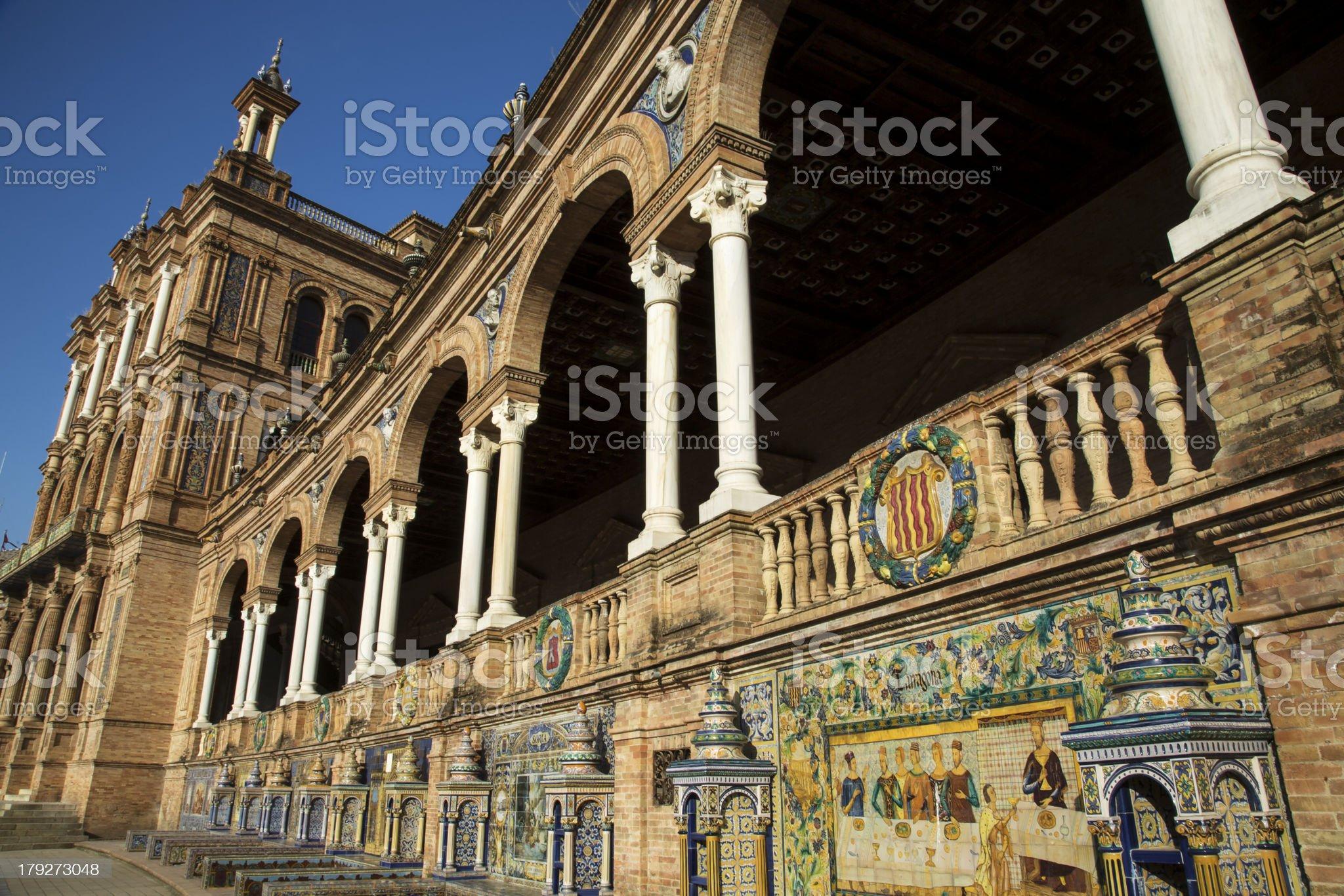 Plaza de Espana Sevilla royalty-free stock photo