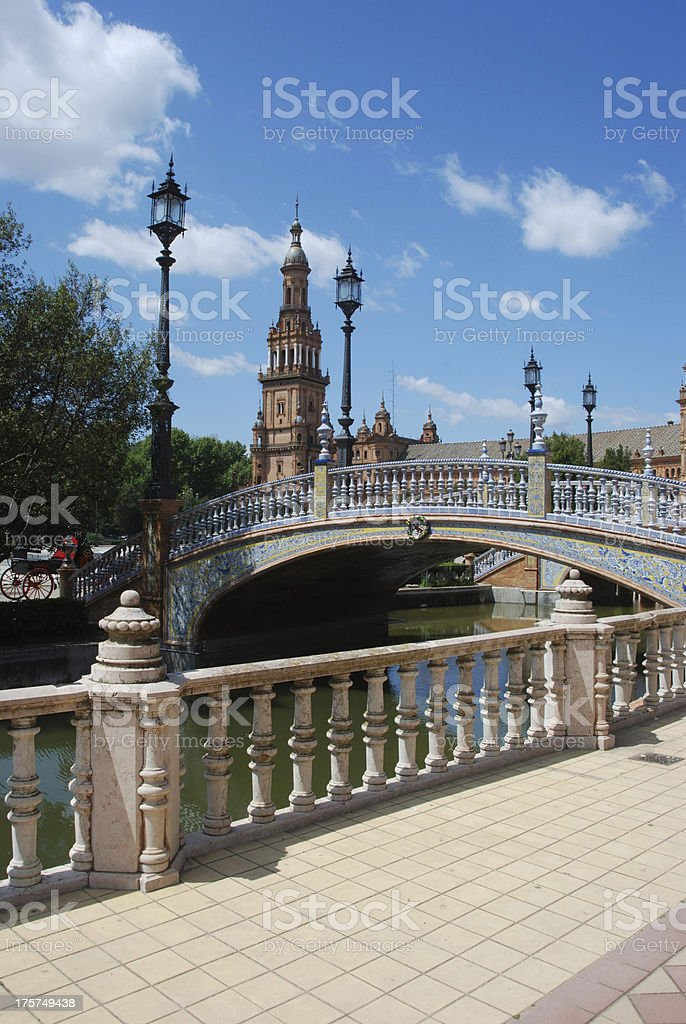 Plaza de Espana, Seville, Andalusia. royalty-free stock photo