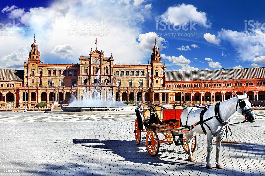 Plaza de Espana - Seville, Andalusia stock photo