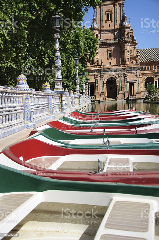 Plaza de Espana, Seville In Spain royalty-free stock photo