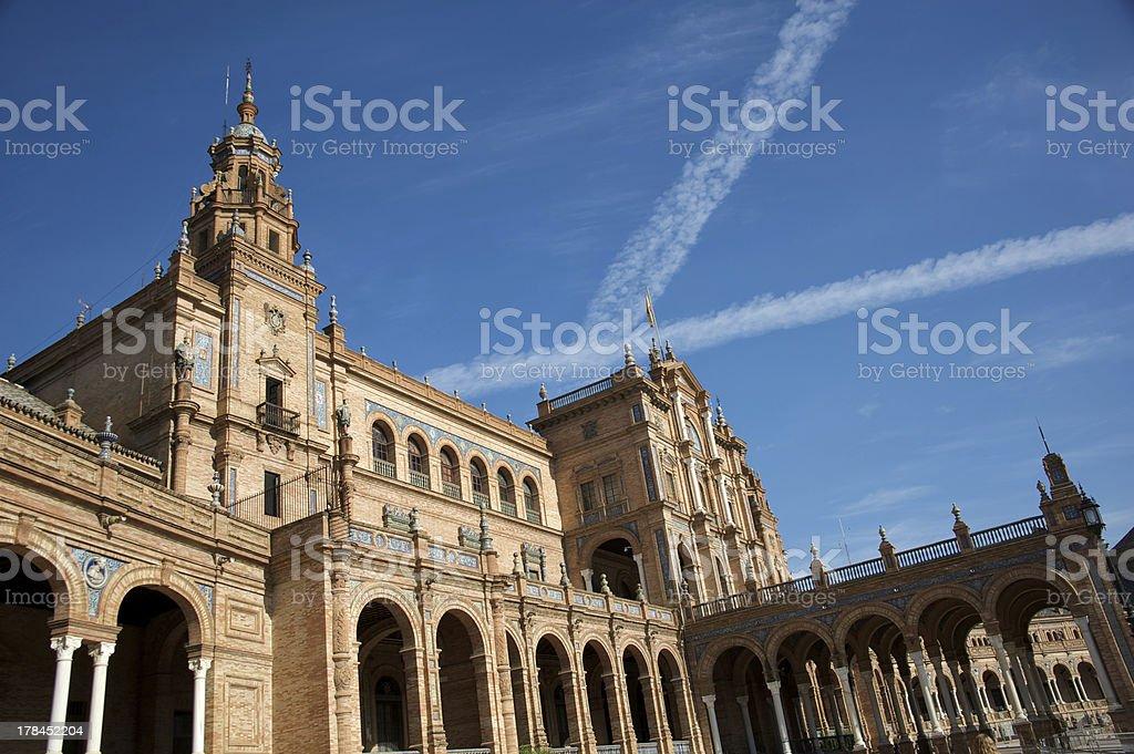 Plaza de Espana - Seville royalty-free stock photo