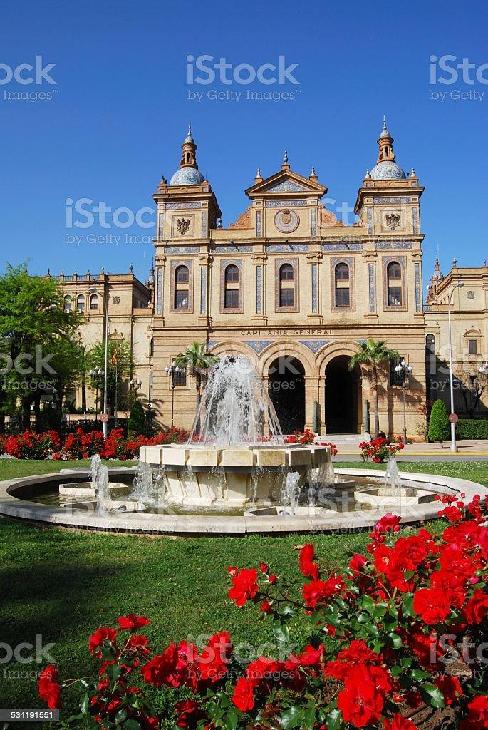 Plaza de Espana, Seville. stock photo