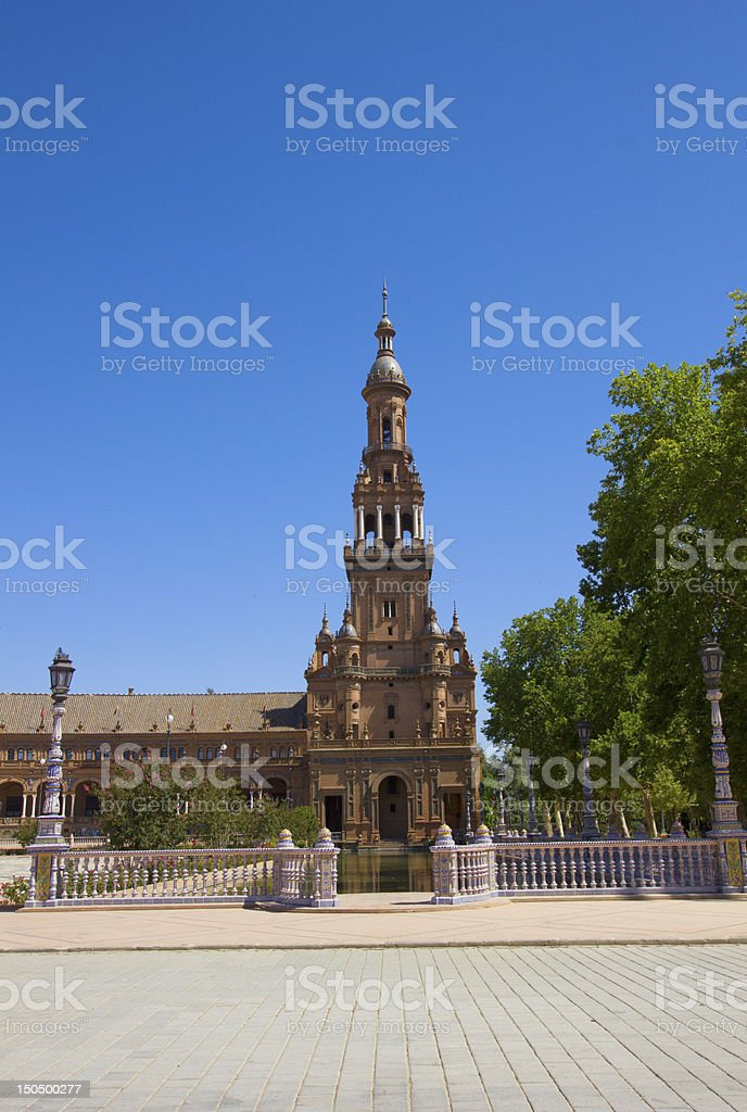 Plaza de Espana, Seville, Spain royalty-free stock photo