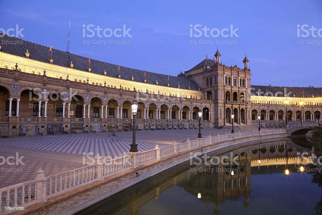 Plaza de Espana, Seville Spain royalty-free stock photo