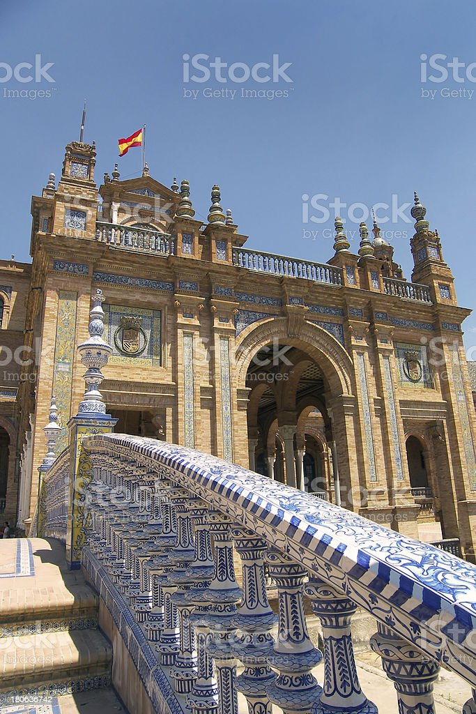 Plaza de Espana, Seville, Spain royalty-free stock photo