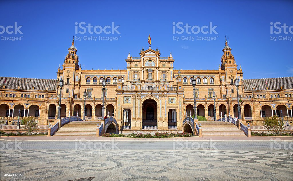 Plaza de Espana, Seville, Spain. royalty-free stock photo