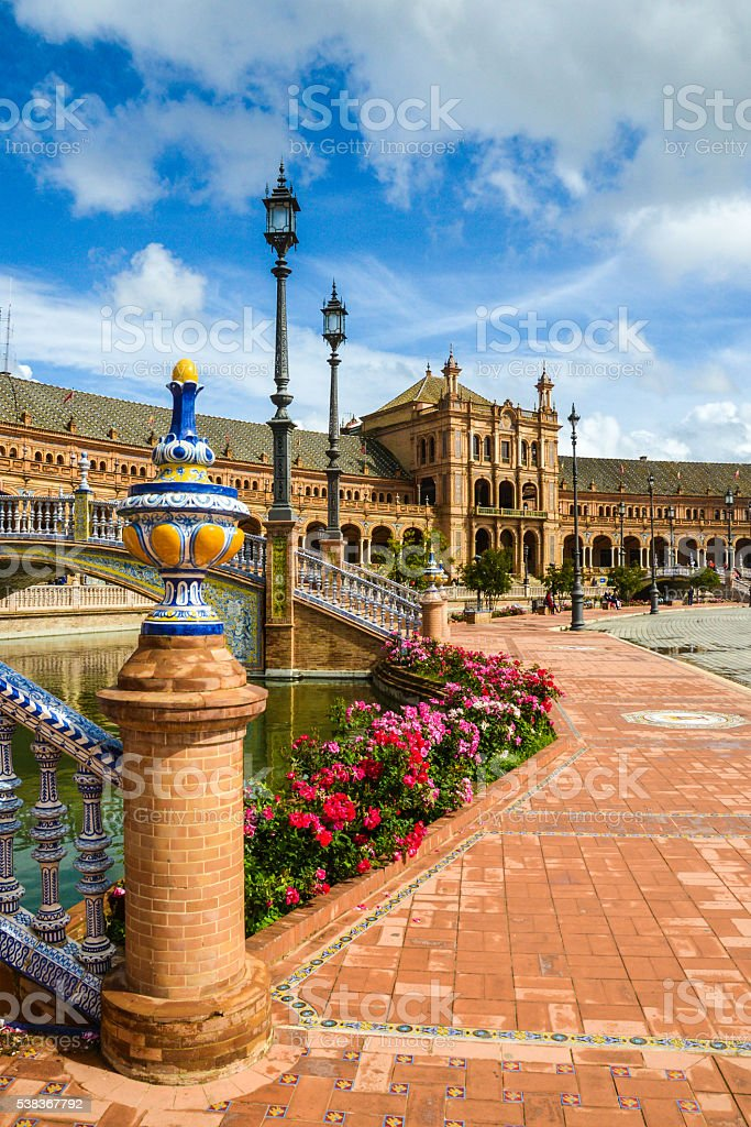 Plaza de Espana - Sevilla Spain stock photo