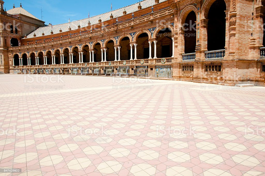 Plaza de Espana - Seville - Spain stock photo