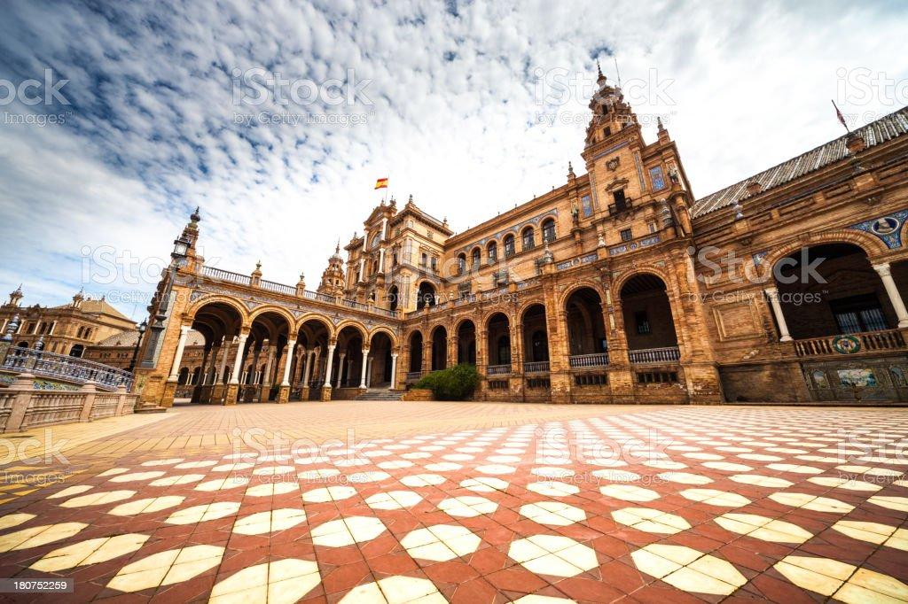 Plaza de Espana, Seville - The typical tiles royalty-free stock photo