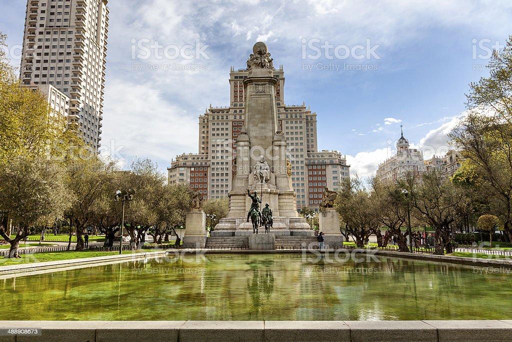 Plaza de Espana,Madrid. stock photo