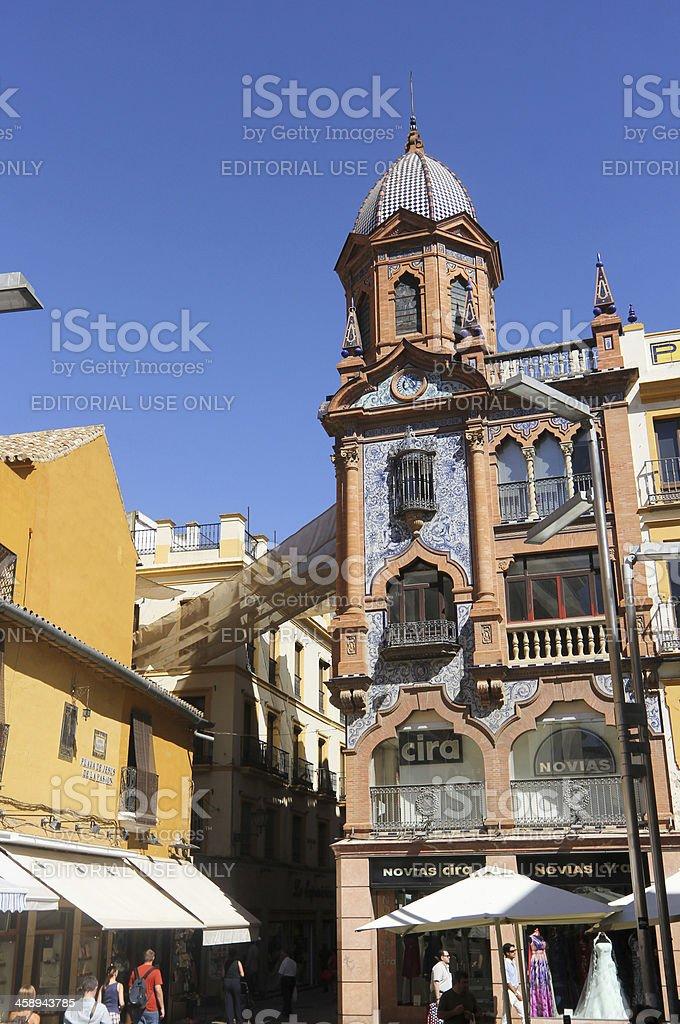 Plaza de Jesus in Seville, Spain royalty-free stock photo