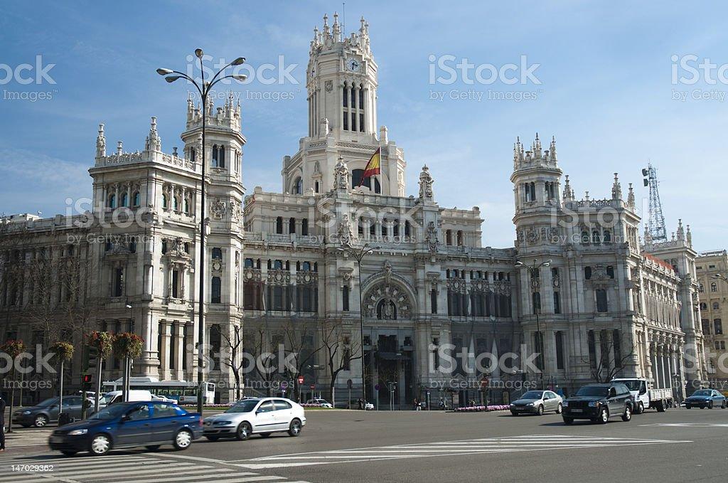 plaza de la cibeles, madrid stock photo