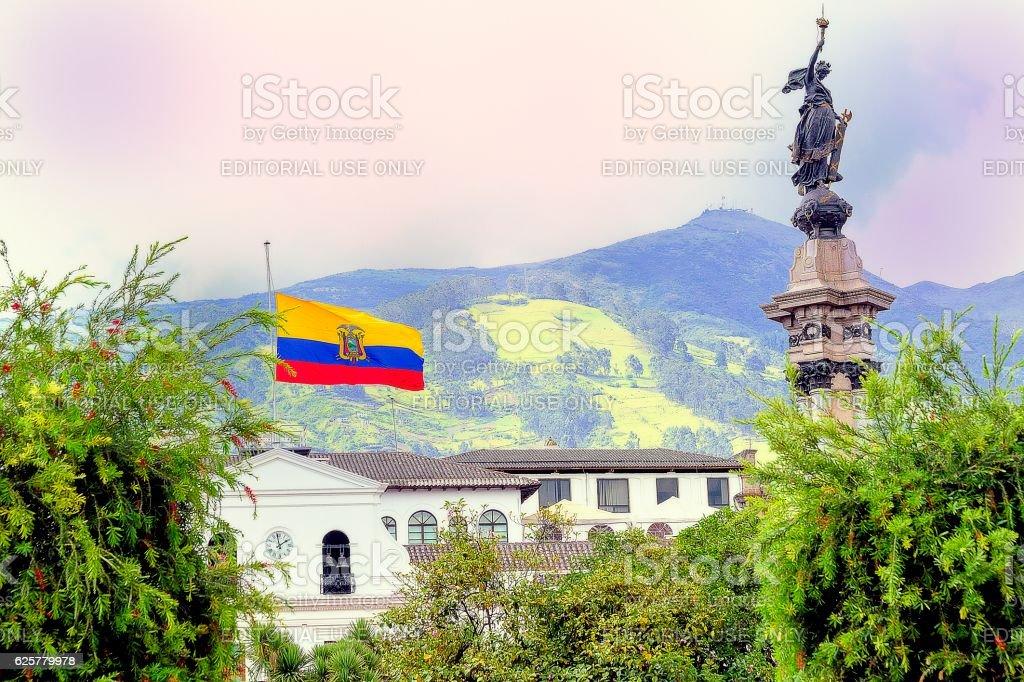 Plaza de la Independencia (Plaza Grande), Quito stock photo