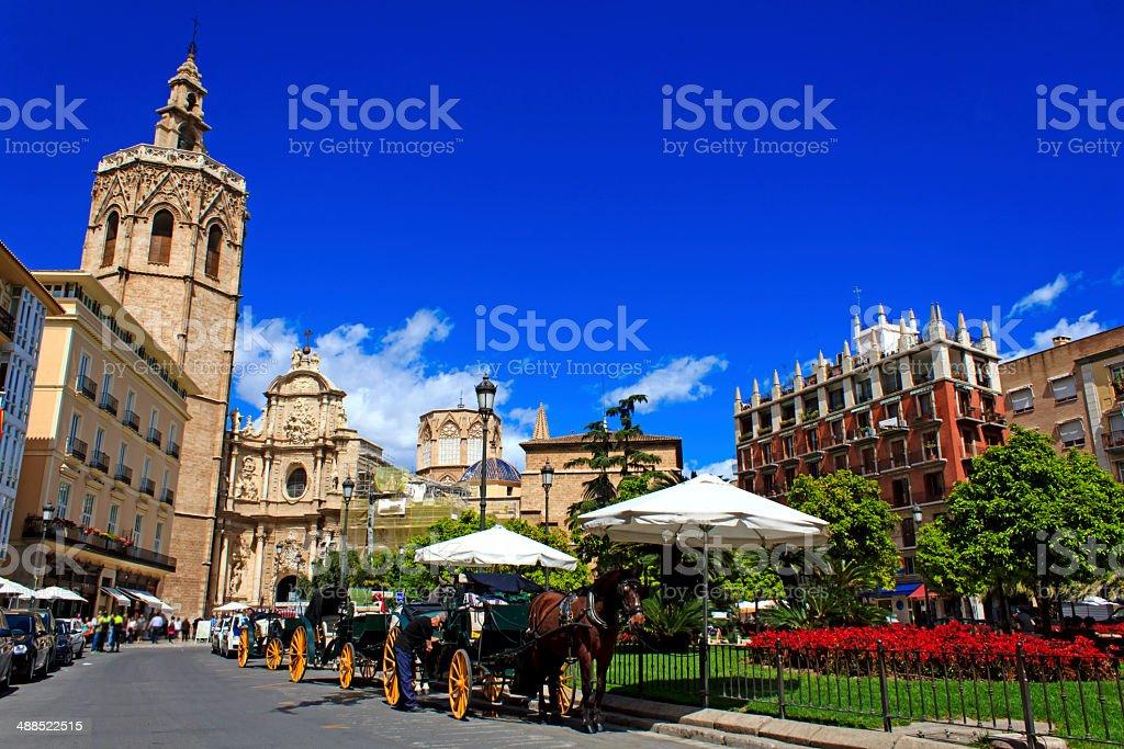 Plaza de la Reina in Valencia stock photo