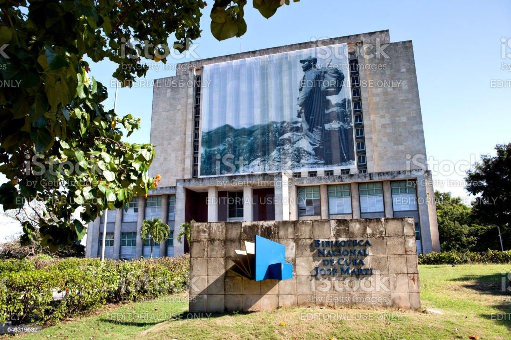 Plaza de la Revolucion, Biblioteca Nacional de Cuba Jose Marti. stock photo