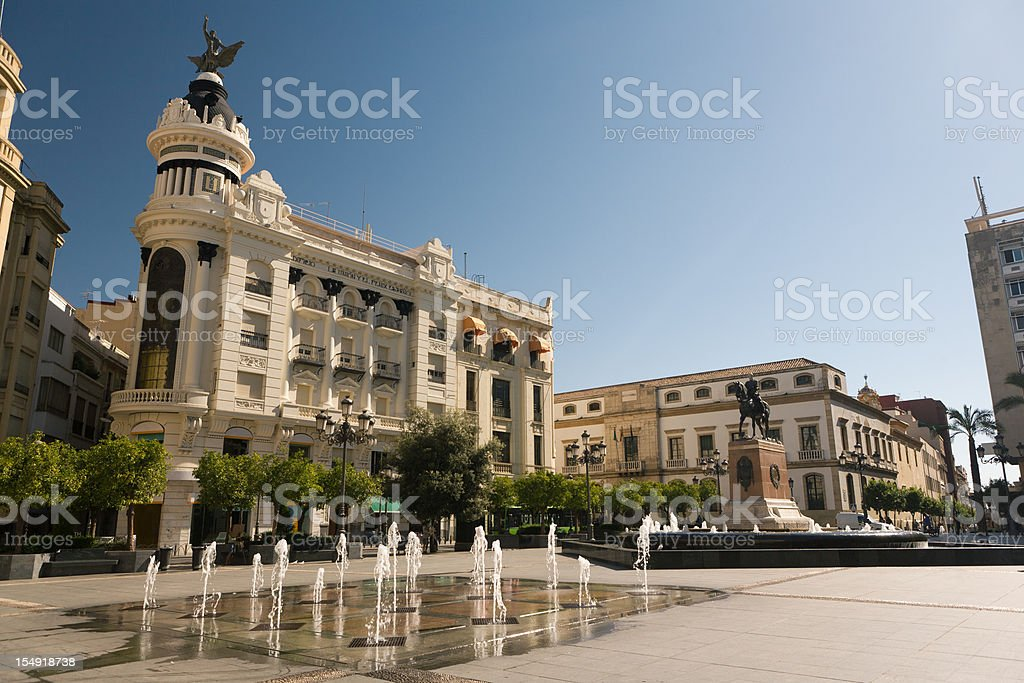 Plaza de la Tendillas in Cordoba stock photo