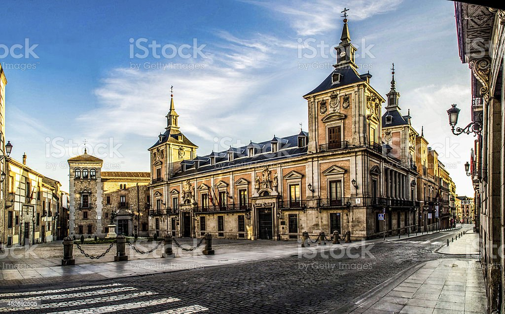plaza de la villa stock photo