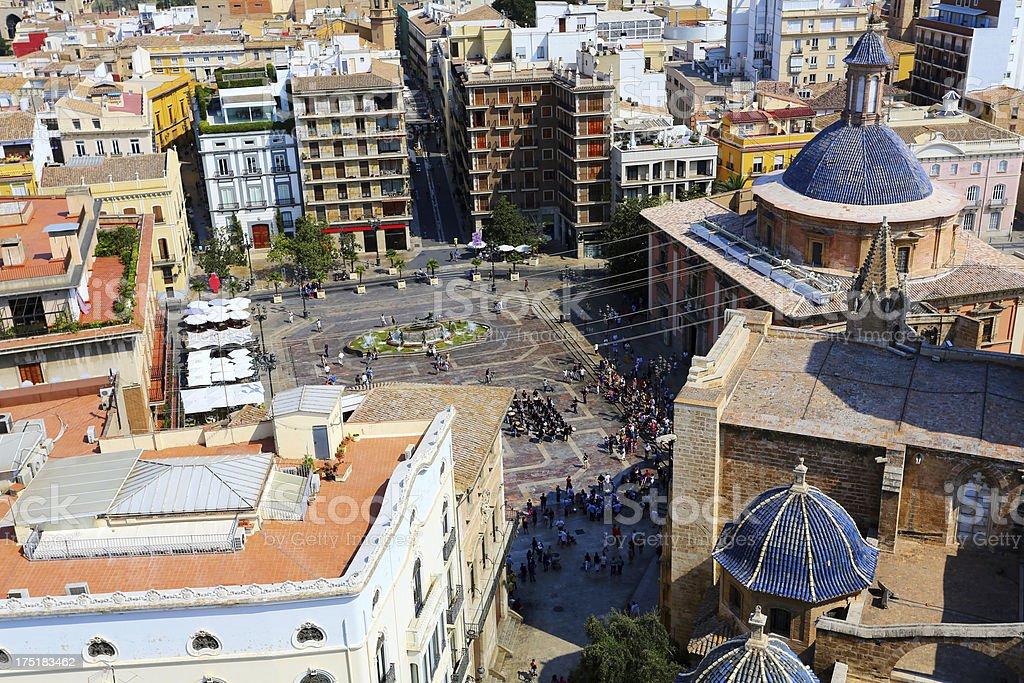 Plaza de la Virgen, Valencia royalty-free stock photo