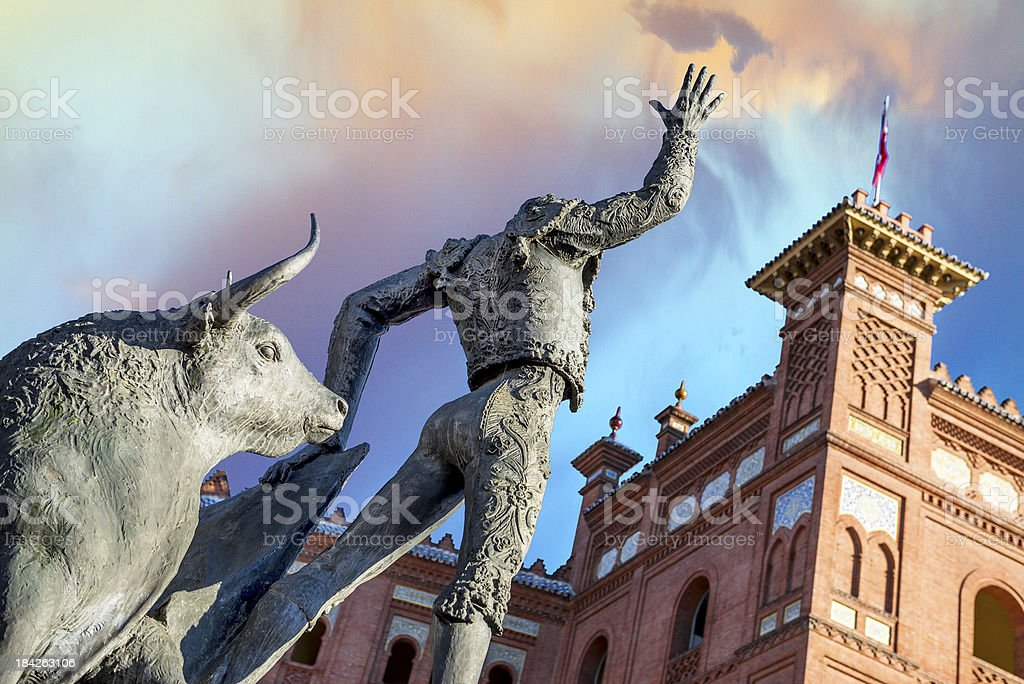 Plaza de Las Ventas in Madrid stock photo